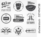 american gun shop set. firearms ... | Shutterstock .eps vector #337496738