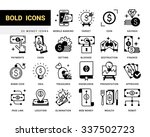 bold vector icons in a modern... | Shutterstock .eps vector #337502723