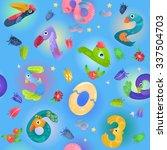 pattern from numbers like birds ... | Shutterstock .eps vector #337504703