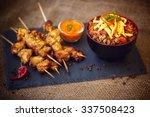 Nasi Goreng And Chicken Skewer...
