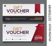 gift voucher colorful | Shutterstock .eps vector #337508489