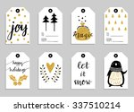 collection of eight gold... | Shutterstock .eps vector #337510214