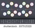 modern rainbow timeline with... | Shutterstock .eps vector #337515320