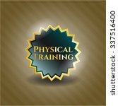 physical training gold badge | Shutterstock .eps vector #337516400