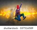 young hip hop dancer in jump... | Shutterstock . vector #337516589
