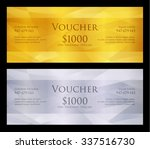 luxury golden and silver... | Shutterstock .eps vector #337516730