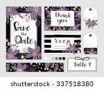 winter wedding template... | Shutterstock .eps vector #337518380