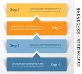 vector lines arrows infographic.... | Shutterstock .eps vector #337519148