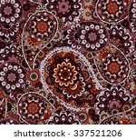 paisley floral seamless pattern.... | Shutterstock .eps vector #337521206