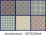 set of 6 seamless patterns ... | Shutterstock .eps vector #337525064