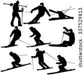 set mountain skier   speeding... | Shutterstock .eps vector #337529813