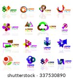geometric shapes company logo... | Shutterstock .eps vector #337530890
