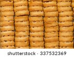 small round waffles  line ... | Shutterstock . vector #337532369