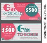 gift voucher certificate... | Shutterstock .eps vector #337548506