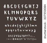hand drawn vector alphabet.... | Shutterstock .eps vector #337553084