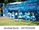 blurred cheer leader in sport... | Shutterstock . vector #337553240
