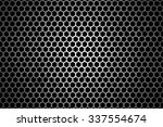 Black Iron Speaker Grid Textur...