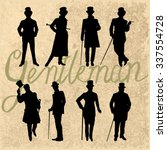set of male silhouettes... | Shutterstock .eps vector #337554728