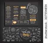 vector restaurant brochure ... | Shutterstock .eps vector #337554854