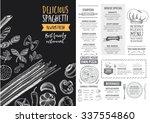vector restaurant brochure ... | Shutterstock .eps vector #337554860