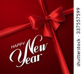 happy new year. holiday vector... | Shutterstock .eps vector #337557599