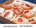 Fresh Donuts With Jam In The...