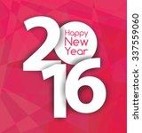 happy new year 2016 | Shutterstock .eps vector #337559060