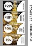 set of modern gift voucher... | Shutterstock .eps vector #337559228