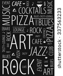 rock cafe  background  wallpaper | Shutterstock .eps vector #337563233