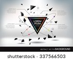 abstract background with... | Shutterstock .eps vector #337566503