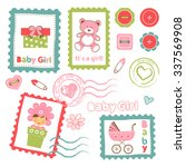 colorful collection of baby... | Shutterstock .eps vector #337569908