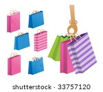shopping or gift bags. high res ... | Shutterstock . vector #33757120