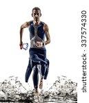 man triathlon iron man athlete... | Shutterstock . vector #337574330