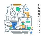 illustration of vector modern... | Shutterstock .eps vector #337575323