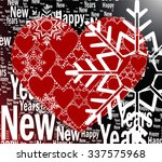 red hearts vector with black... | Shutterstock .eps vector #337575968