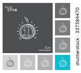 money icon   vector ... | Shutterstock .eps vector #337584470
