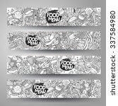 vector hand drawn doodles... | Shutterstock .eps vector #337584980