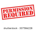 permission required red rubber... | Shutterstock . vector #337586228