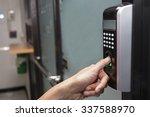fingerprint and password lock... | Shutterstock . vector #337588970