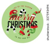 merry christmas joy of the... | Shutterstock .eps vector #337593494
