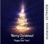 christmas tree shiny vector... | Shutterstock .eps vector #337594358