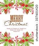 merry christmas   Shutterstock .eps vector #337601420
