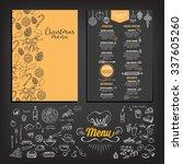 vector christmas restaurant... | Shutterstock .eps vector #337605260