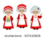 happy mrs. claus | Shutterstock .eps vector #337610828