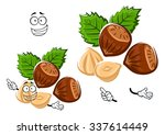 healthful happy hazelnut... | Shutterstock .eps vector #337614449