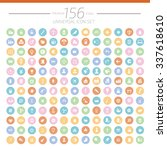 156 big web universal icon set... | Shutterstock .eps vector #337618610
