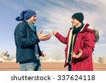 men models wearing winter... | Shutterstock . vector #337624118