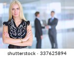 business woman standing in... | Shutterstock . vector #337625894