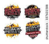 set of retro logos  badges ... | Shutterstock .eps vector #337631588