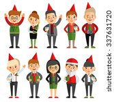 set of characters in a flat... | Shutterstock .eps vector #337631720